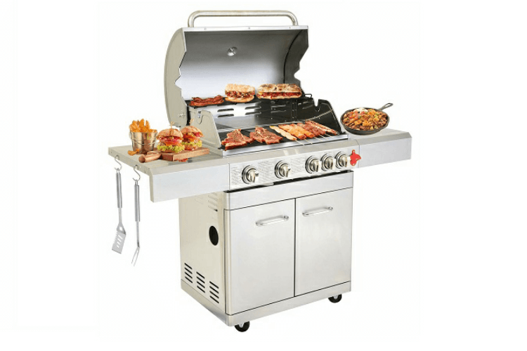 greaden-phenix-barbecue-à-gaz-amis-brochettes-grill-jardin-grillades-saucisses-viande-cuisson-plancha-avis-guide